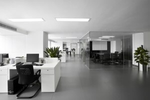 office furniture, flooring, wall coverings, ceilings and partitions