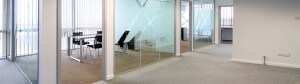 office interior, refurbishment, partitions and ceilings